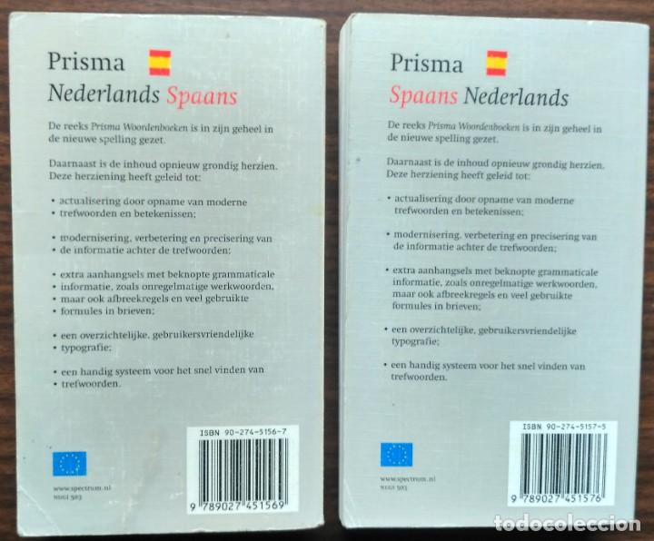 Diccionarios: NEDERLANDS - SPAANS / SPAANS - NEDERLAND. PRISMA. - Foto 2 - 187168226