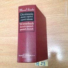 Diccionarios: DICCIONARIO ALEMÁN ESPAÑOL. Lote 189125781