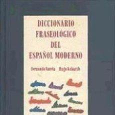 Diccionarios: DICCIONARIO FRASEOLOGICO ESPAÑOL MODERNO. Lote 189823413