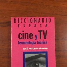 Diccionarios: DICCIONARIO ESPASA CINE Y TV. Lote 191642985