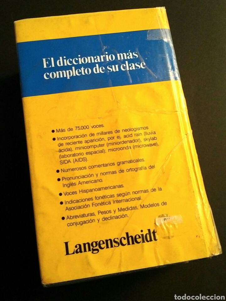 Diccionarios: Langenscheidt Inglés Diccionario Moderno 1988 - más de 75000 voces - Foto 2 - 194863432