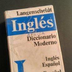 Diccionarios: LANGENSCHEIDT INGLÉS DICCIONARIO MODERNO 1988 - MÁS DE 75000 VOCES. Lote 194863432