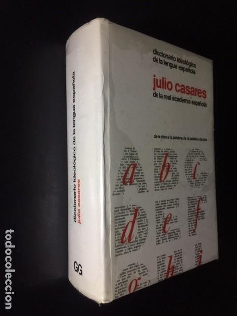 Diccionarios: DICCIONARIO IDEOLOGICO DE LA LENGUA ESPAÑOLA JULIO CASARES DE LA REAL ACADEMIA ESPAÑOLA - Foto 2 - 196657463