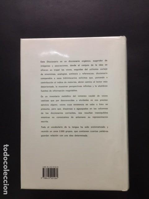 Diccionarios: DICCIONARIO IDEOLOGICO DE LA LENGUA ESPAÑOLA JULIO CASARES DE LA REAL ACADEMIA ESPAÑOLA - Foto 5 - 196657463