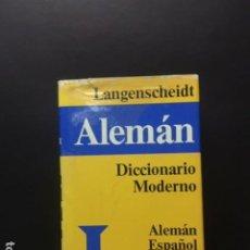 Diccionarios: LANGENSCHEIDT ALEMAN DICCIONARIO MODERNO. Lote 196765135