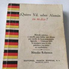 Diccionarios: QUIERE SABER VD, SABER ALEMÀN - 1962. Lote 203859711