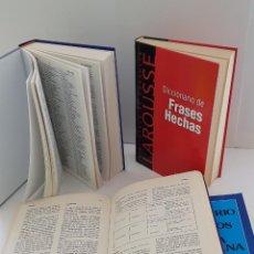 Diccionarios: LOTE DE 4 LIBROS: DICC. FRASEOLÓGICO. DICC DE MEDIOS DE COMUNICACIÓN, FRASES HECHAS Y SINÓNIMOS. Lote 204054732