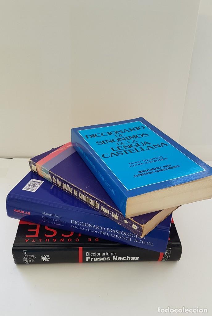 Diccionarios: LOTE DE 4 LIBROS: DICC. FRASEOLÓGICO. DICC DE MEDIOS DE COMUNICACIÓN, FRASES HECHAS Y SINÓNIMOS - Foto 3 - 204054732