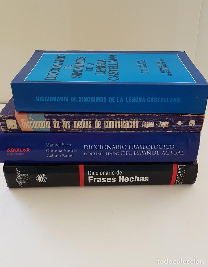 Diccionarios: LOTE DE 4 LIBROS: DICC. FRASEOLÓGICO. DICC DE MEDIOS DE COMUNICACIÓN, FRASES HECHAS Y SINÓNIMOS - Foto 4 - 204054732