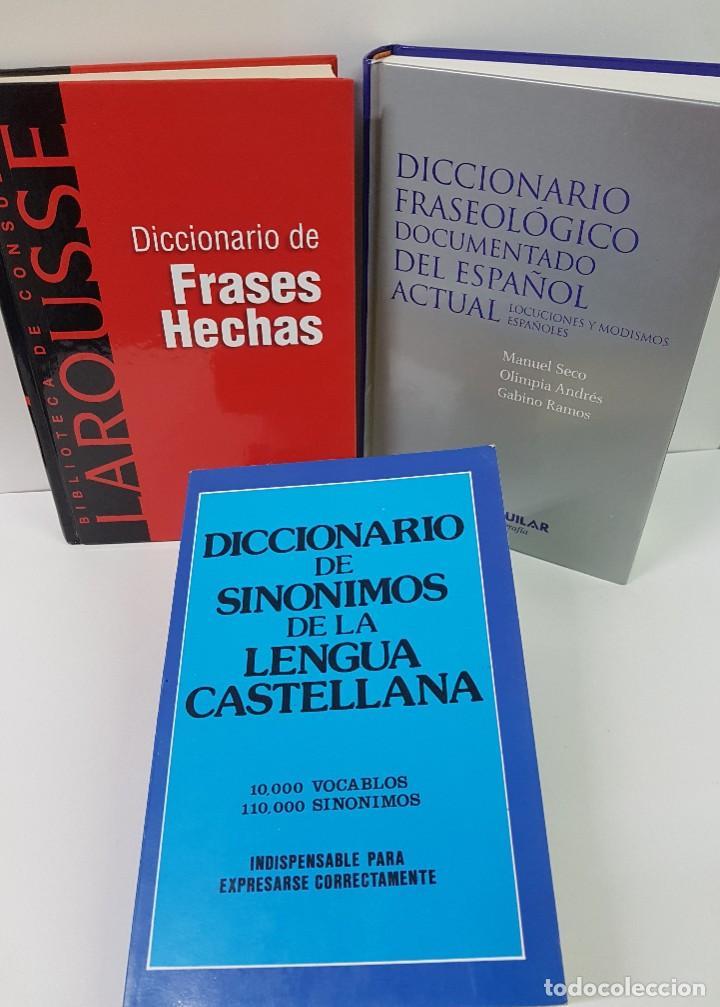 Diccionarios: LOTE DE 4 LIBROS: DICC. FRASEOLÓGICO. DICC DE MEDIOS DE COMUNICACIÓN, FRASES HECHAS Y SINÓNIMOS - Foto 7 - 204054732
