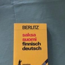 Diccionarios: BERLITZ FINNISH DEUTSCH / SAKSA SUOMI / DICCIONARIO ALEMÁN - FINLANDÉS. Lote 205260548
