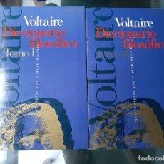 Diccionarios: DICCIONARIO FILOSOFICO VOLTAIRE DOS TOMOS. Lote 205667011