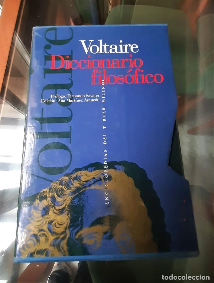Diccionarios: DICCIONARIO FILOSOFICO VOLTAIRE DOS TOMOS - Foto 2 - 205667011