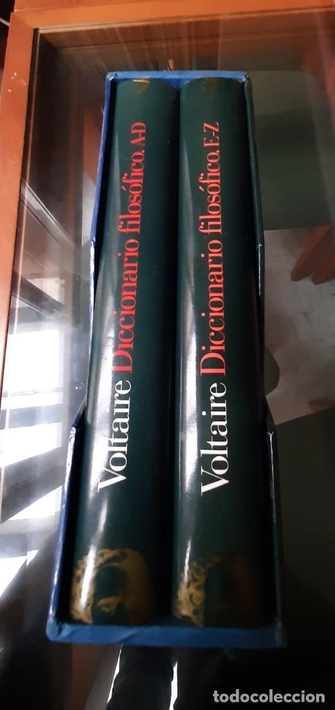 Diccionarios: DICCIONARIO FILOSOFICO VOLTAIRE DOS TOMOS - Foto 3 - 205667011