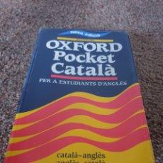 Diccionarios: LIBRO OXFORS POCKET CATALA. Lote 206555735