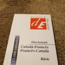 Diccionarios: DICTIONARIO CATALA FRANCES. Lote 206590387
