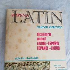 Livros: DICCIONARIO SOPENA 1984 LATIN EGB A ESTRENAR. Lote 207993468