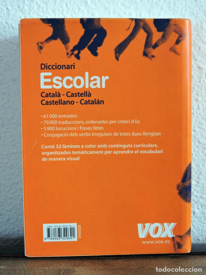 Diccionarios: Diccionari Escolar Vox Català Castellà - Foto 2 - 207994440