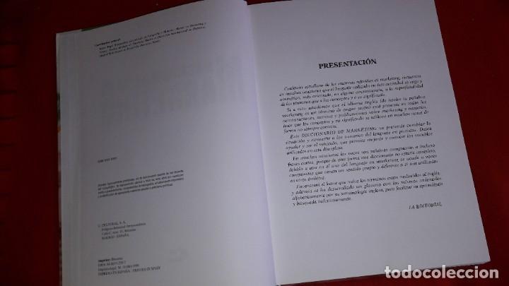 Diccionarios: DICCIONARIO DE MARKETING. BRUNO PUJOL BENGOECHEA. 1999 - Foto 2 - 209112642