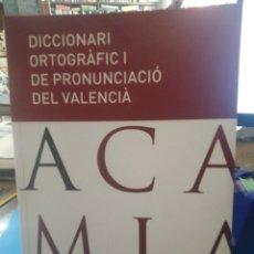 Diccionarios: DICCIONARI ORTOGRAFIC I DE PRONUNCIACIÓ DEL VALENCIA-2006 VALENCIA,EDITA AJUNTAMENT DE VALENCIA,CD. Lote 213330311