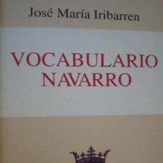Livres: VOCABULARIO NAVARRO.JOSE MARÍA IRIBARREN.DIARIO DE NAVARRA. SIN DESPRECINTAR.. Lote 213504272