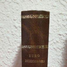 Diccionarios: EURO DICCIONARIO 6 IDIOMAS - EL MUNDO/BBV, 1993 TAPA DURA. Lote 214364138