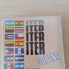 Livros: DICCIONARIO ITER SOPENA LENGUA ESPAÑOLA 1991. NUEVO. Lote 222969542