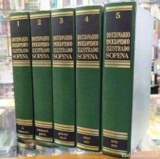 Diccionarios: DICCIONARIO ENCICLOPÉDICO ILUSTRADO SOPENA. CINCO TOMOS A-ENC-455-SF. Lote 227141170