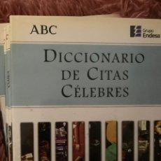Diccionarios: DICCIONARIO ENCICLOPEDIA CITAS CELEBRES. Lote 228213855