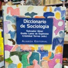 Livres: DICCIONARIO DE SOCIOLOGÍA -2°EDICION,SALVADOR GINER/ESPINOSA/TORRES,EDITA ALIANZA. Lote 228859420