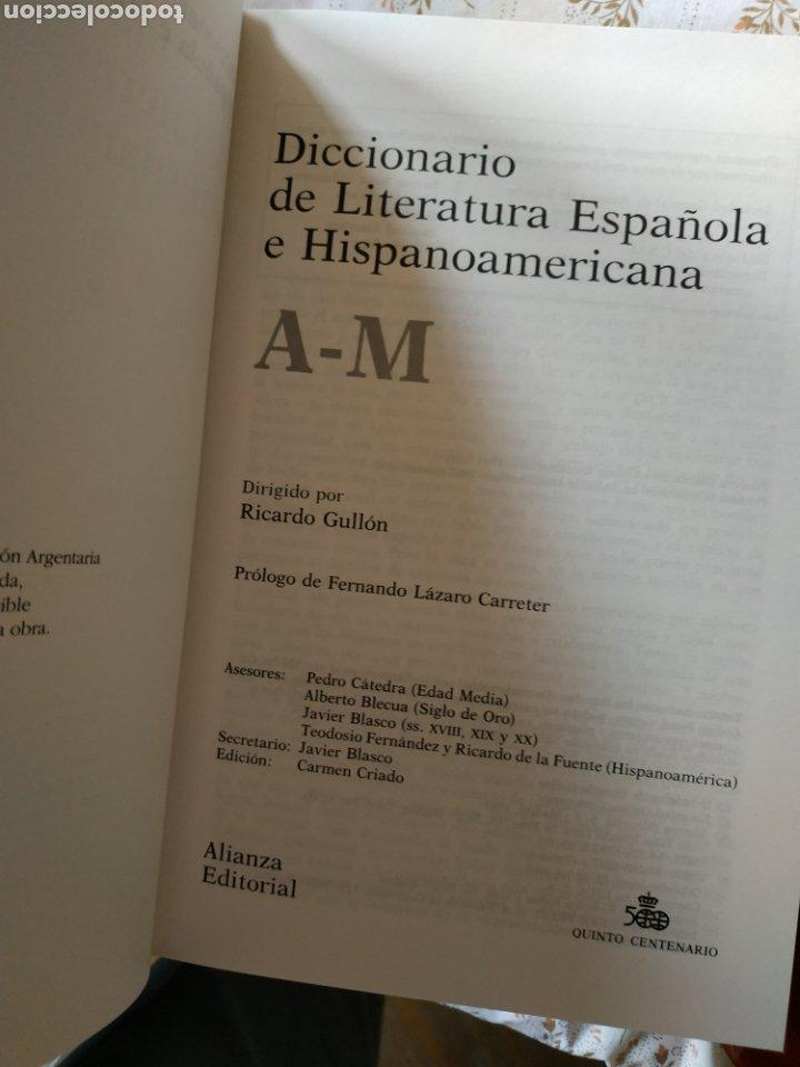 Diccionarios: Diccionarios de Literatura Española e Hispanoamericana - Foto 6 - 241164705