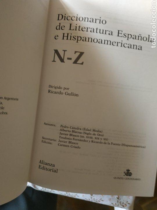 Diccionarios: Diccionarios de Literatura Española e Hispanoamericana - Foto 8 - 241164705