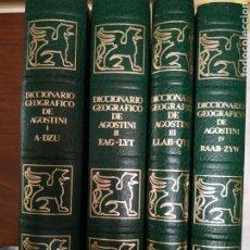 Diccionarios: DICCIONARIO GEOGRÁFICO DE AGOSTINI. 1988. Lote 241290805