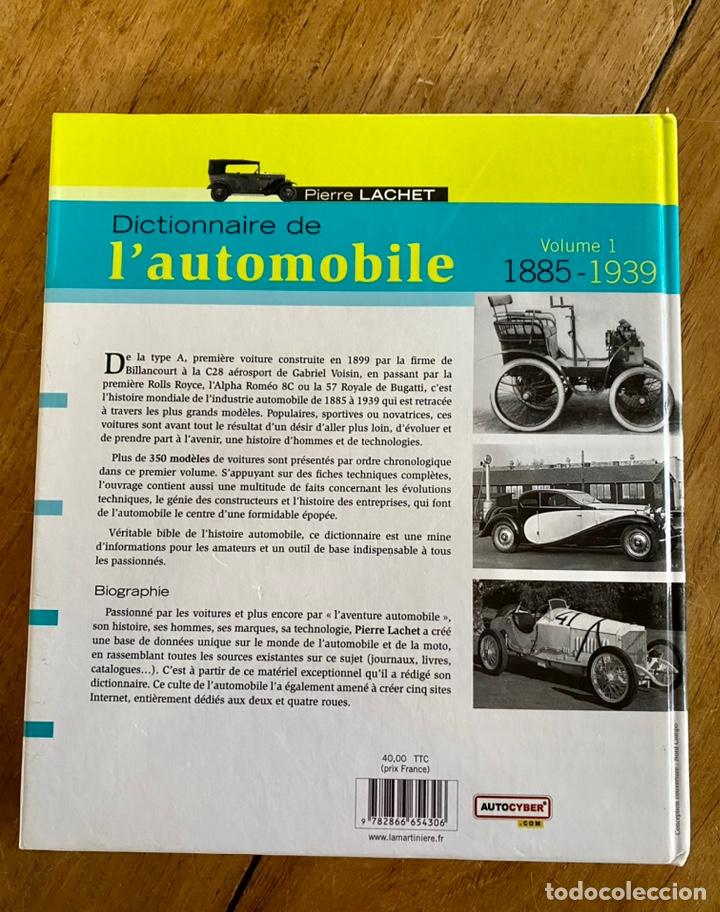 Diccionarios: Libro Dictionnaire de l'Automobile / Volume I 1885-1939 - Foto 3 - 242043425