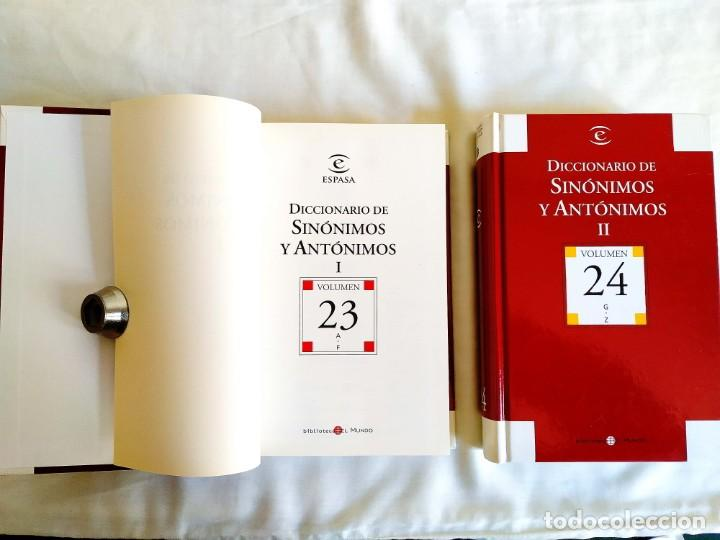 DICCIONARIO ESPASA DE SINÓNIMOS - DOS TOMOS (Libros Nuevos - Diccionarios y Enciclopedias - Diccionarios)
