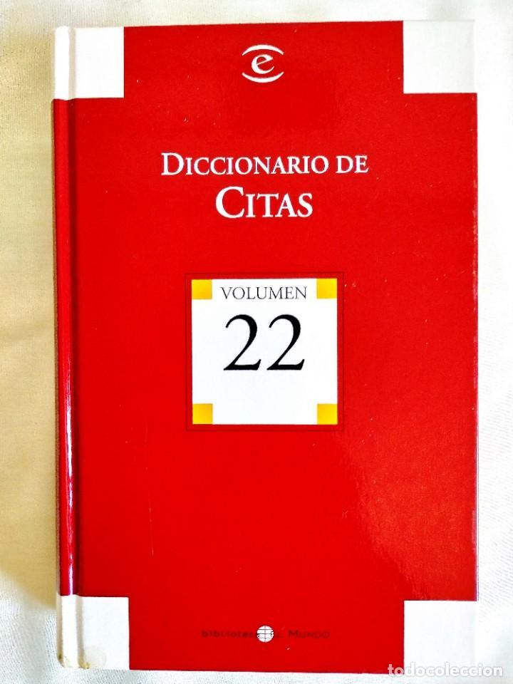 DICCIONARIO ESPASA DE CITAS (Libros Nuevos - Diccionarios y Enciclopedias - Diccionarios)