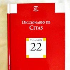 Diccionarios: DICCIONARIO ESPASA DE CITAS. Lote 242153790