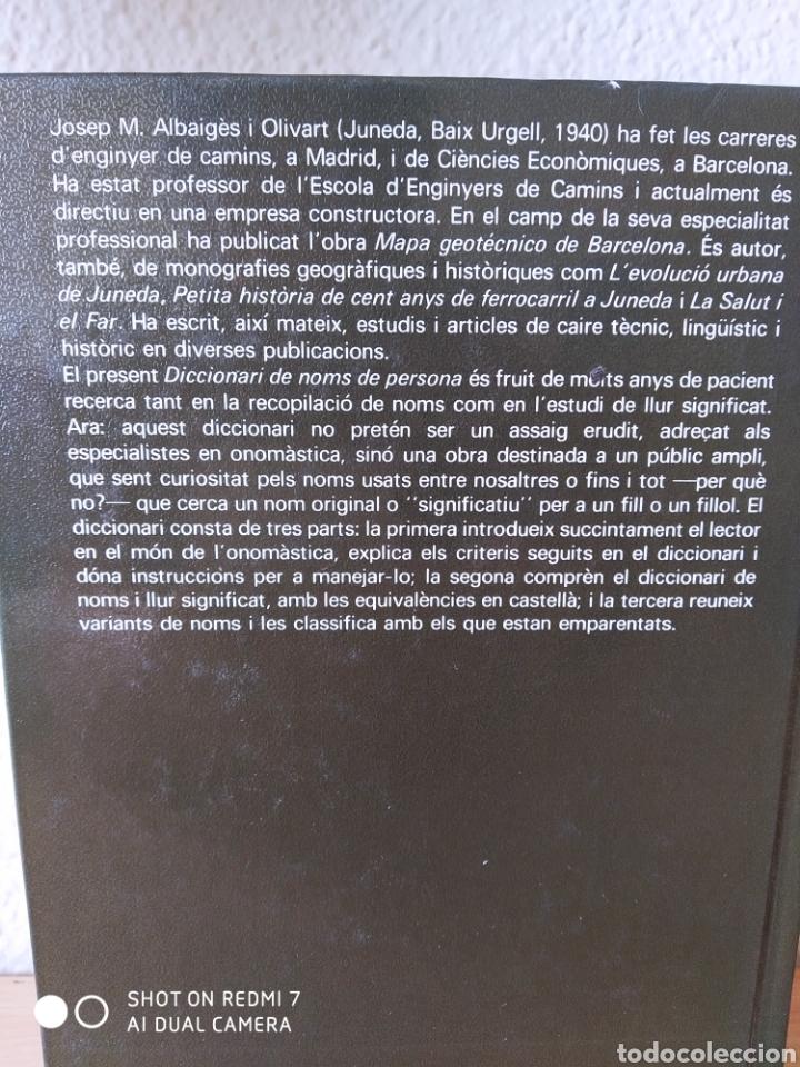Diccionarios: Diccionari de noms de persona. Catalán. Nuevo - Foto 3 - 243119105
