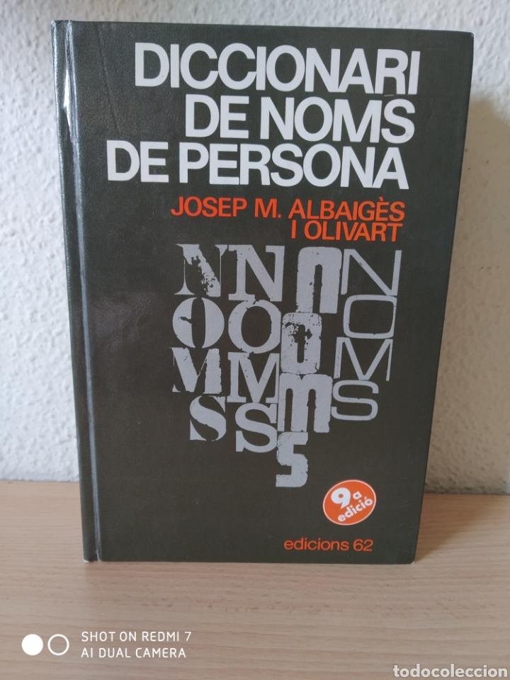 DICCIONARI DE NOMS DE PERSONA. CATALÁN. NUEVO (Libros Nuevos - Diccionarios y Enciclopedias - Diccionarios)