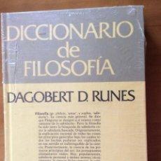Diccionarios: DICCIONARIO DE FILOSOFIA, DE DAGOBERT D.RUNES. ED. GRIJALBO. Lote 243921415