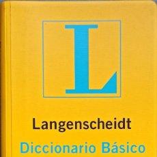 Diccionarios: LANGENSCHEIDT DICCIONARIO BÁSICO INGLÉS: ESPAÑOL-INGLÉS / INGLÉS-ESPAÑOL - BUENO. Lote 246943760