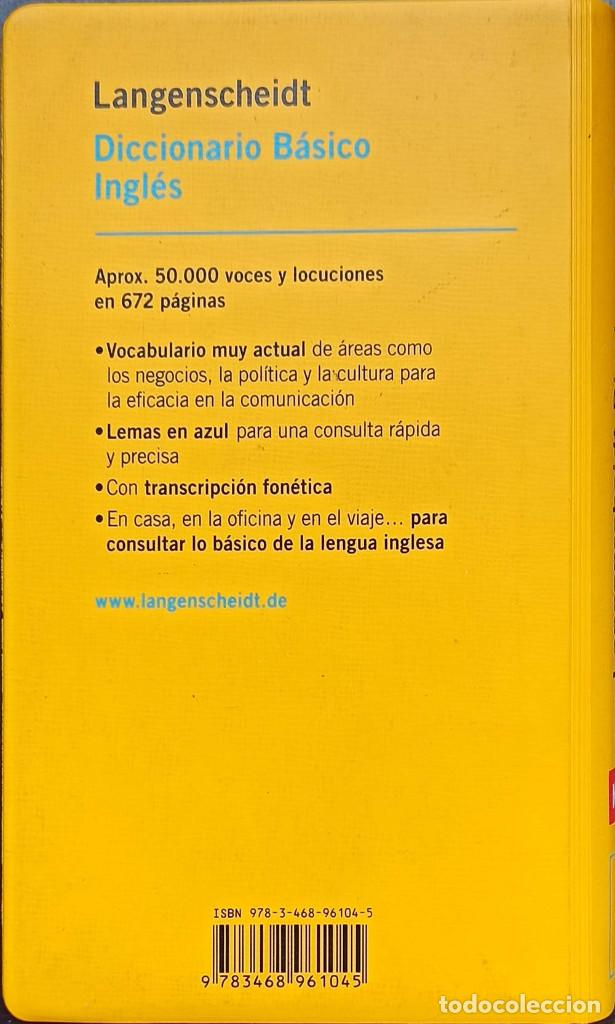 Diccionarios: Langenscheidt Diccionario Básico Inglés: Español-Inglés / Inglés-Español - Bueno - Foto 2 - 246943760