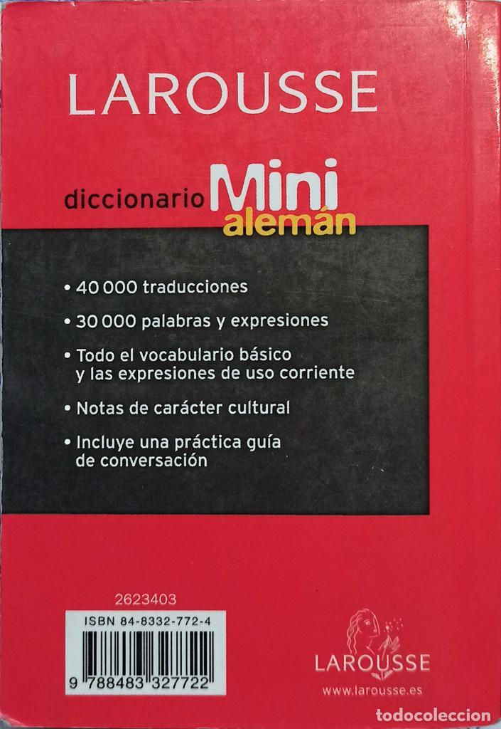 Diccionarios: Diccionario Larousse - Mini español/Alemán - Tapa blanda - Formato Mini Larousse - Foto 2 - 247104545