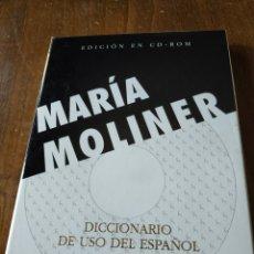 Livres: DICCIONARIO DE USO DEL ESPAÑOL. MARÍA MOLINER. Lote 251812225