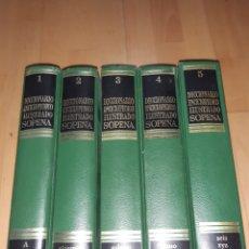 Diccionarios: DICCIONARIO ENCICLOPEDICO ILUSTRADO SOPENA 5 TOMOS 1980. VER DESCRIPCIÓN. Lote 252385715