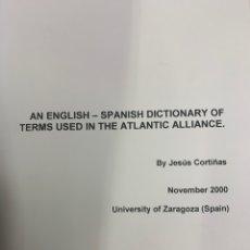 Diccionarios: DICCIONARIO INGLÉS ESPAÑOL DE LOS TÉRMINOS DE LA ALIANZA ATLÁNTICA. Lote 259890955