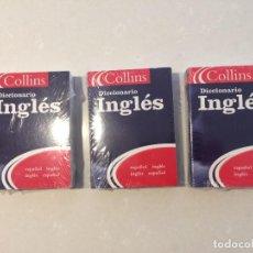 Diccionarios: 3 DICCIONARIOS ESPAÑOL- INGLES INGLES-ESPAÑOL PEQUEÑO FORMATO. Lote 263488040