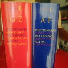 Diccionarios: DICCIONARIO MANUEL SECO DEL ESPAÑOL. OLÍMPICA ANDRÉS. ACTUAL. GABINO RAMOS. Lote 265337979