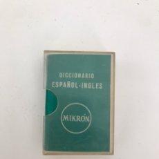 Diccionarios: MINI DICCIONARIO INGLES-ESPAÑOL 6CMX4CM. Lote 267554274