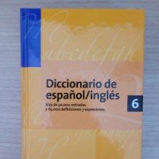 Diccionarios: DICCIONARIO DE ESPAÑOL INGLÉS 6 ESPASA. Lote 277163508